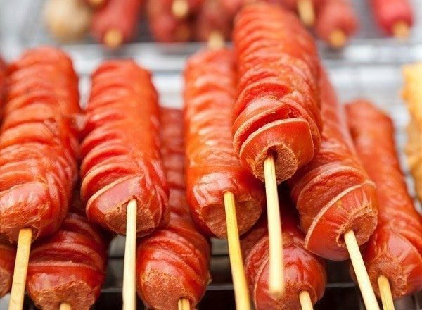 Hot Dogs On A Stick.