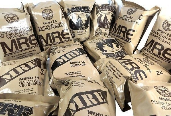 A pile of MREs.